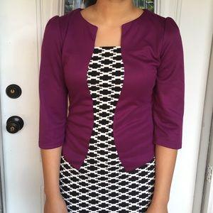 Purple/black and white dress SzL